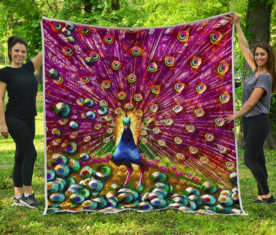 Colorful Peacock Quilt