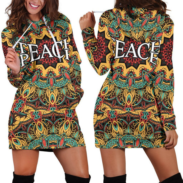 Teach Peace Hooded Dress