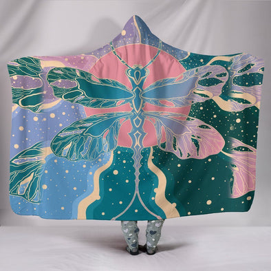 Dragonfly Sun Rays Hooded Blanket