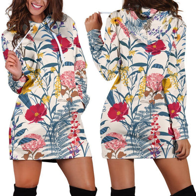 Colorful Flowers Hooded Dress