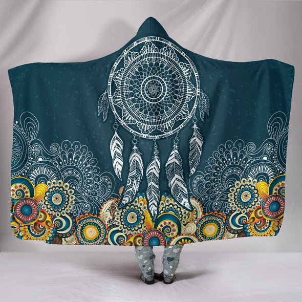Dream Catcher Fractal Hooded Blanket