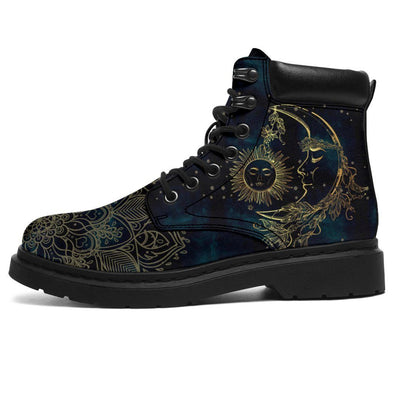 HandCrafted Gold Sun and Moon Performance Boots