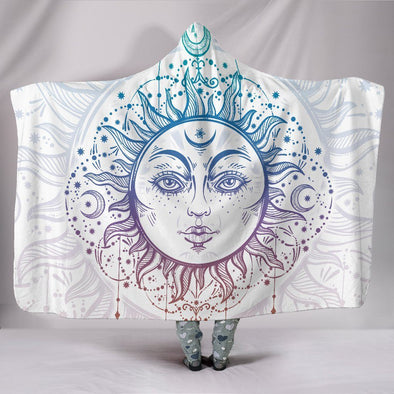 Bohemian Sun and Moon Hooded Blanket