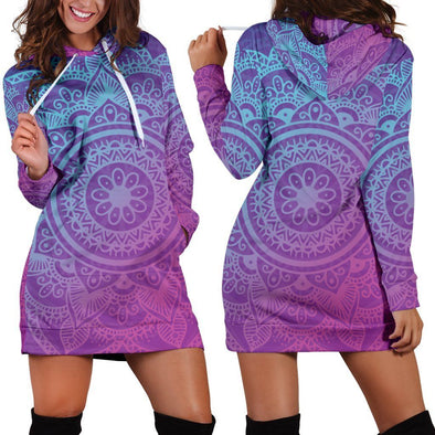 Purple Mandala Hooded Dress