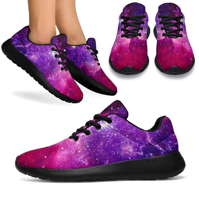 Purple Galaxy Handcrafted Sport Sneakers