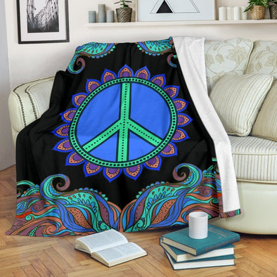 Colorful Hippie Peace Blanket