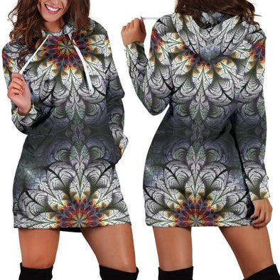 Fractal Mandala 1 Hooded Dress