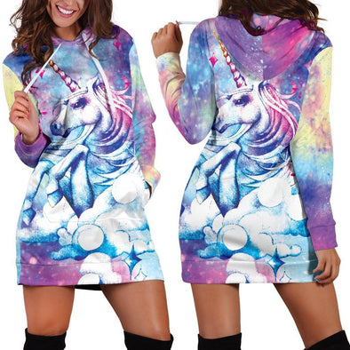 Above The Clouds Unicorn Hooded Dress