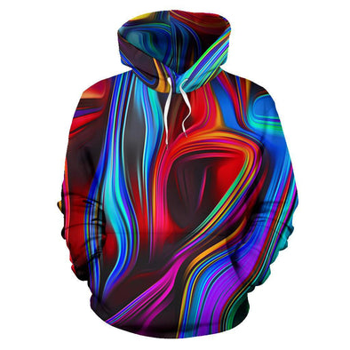 Red and Blue Fractal Hoodie