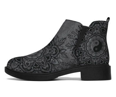 HandCrafted Grey Yin and Yang Mandala Booties
