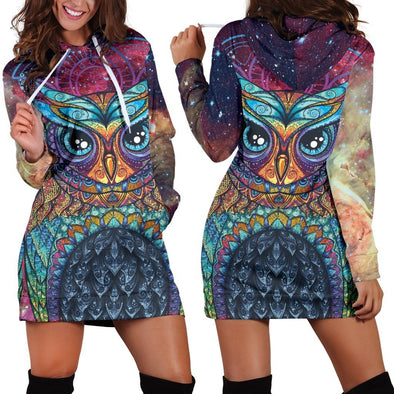 Galactic Owl Hooded Dress