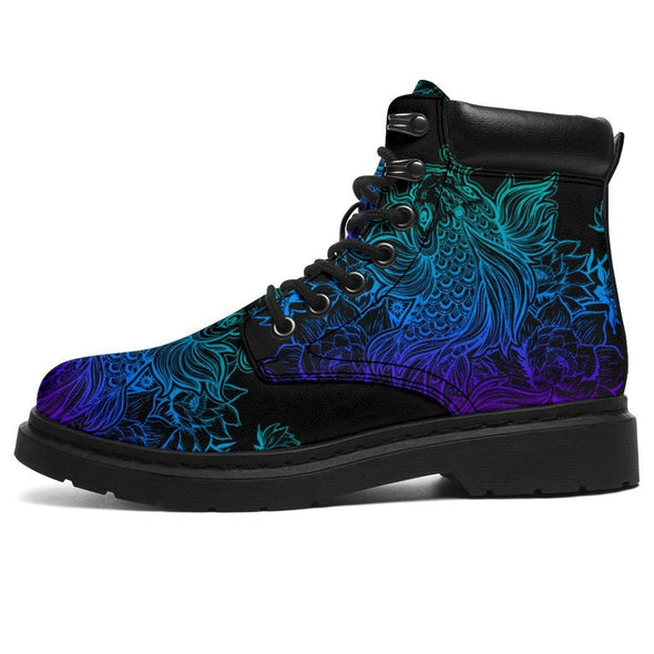 HandCrafted Koi Mandala Performance Boots