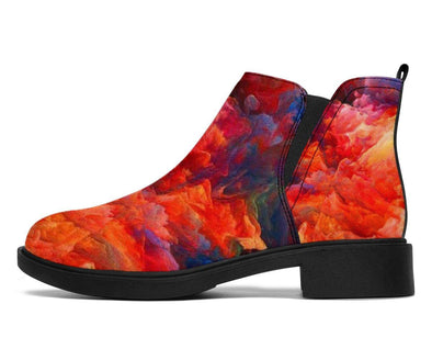 handCrafted Colorful Abstract II Booties