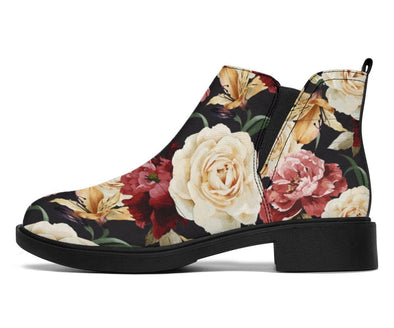 HandCrafted Vintage Floral Booties