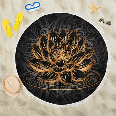 Gold Lotus Beach Blankets
