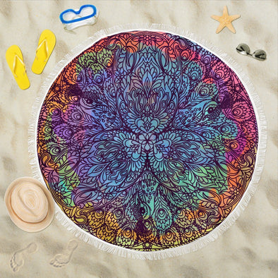 Abstract Mandala Beach Blankets