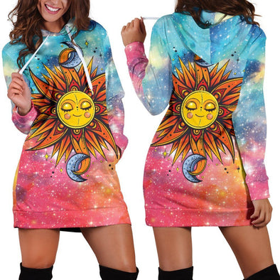 Sun & Moon Hooded Dress