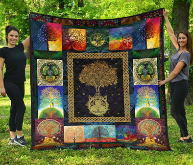 Colorful Tree of Life Quilt