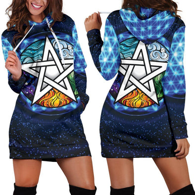 Blue Wicca Hooded Dress