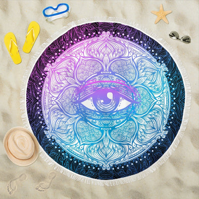 Lotus Eye Beach Blankets