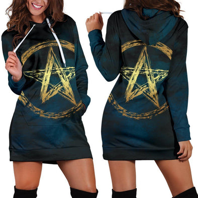 Gold Wicca Hooded Dress