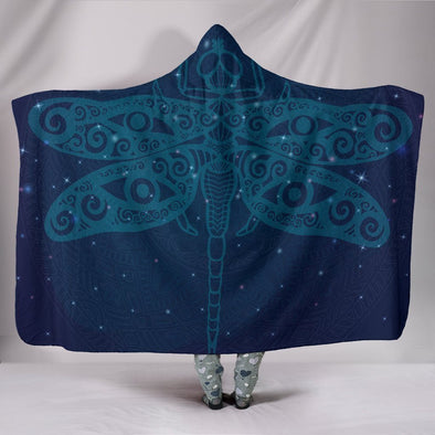 Fantasy Dragonfly Hooded Blanket