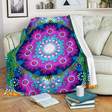Colorful Flower Power Blanket