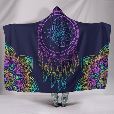 Colorful Dream Catcher Mandala Hooded Blanket