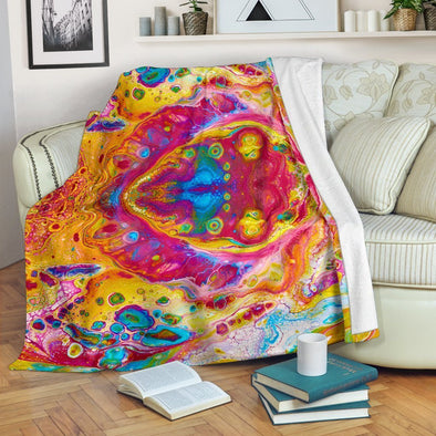 Colorful Abstract Blanket