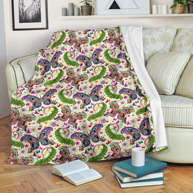 Colorful Butterfly Pattern Blanket