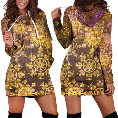 Gold Boho Hooded Dress