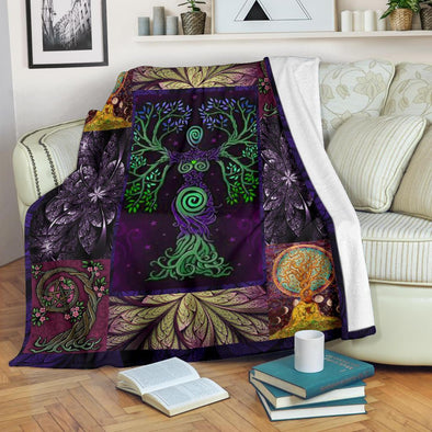Purple Mother Earth Premium Blanket