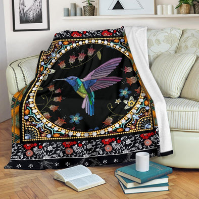 Artistic Humming Bird Blanket