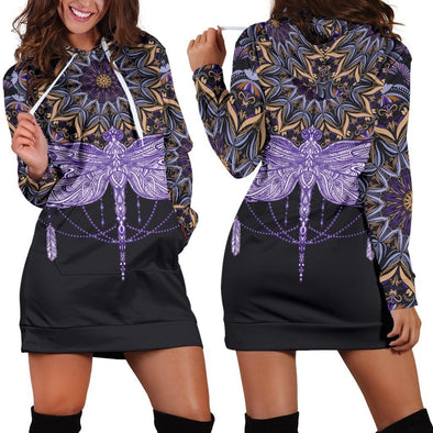 Purple Dragonfly Hooded Dress