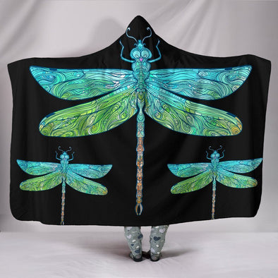 Haven Entangled Dragonfly Hooded Blanket