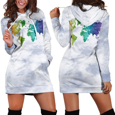 World Map 1 Hooded Dress