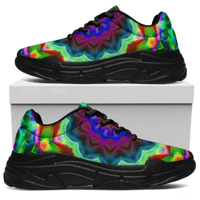 Colorful Abstract Handcrafted Chunky Sneakers