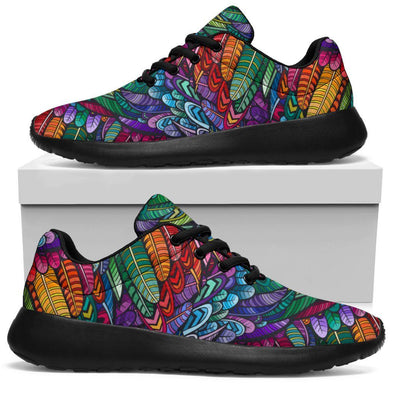 Boho Feathers Handcrafted Sport Sneakers