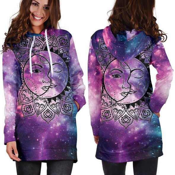 Galaxy Sun & Moon Hooded Dress