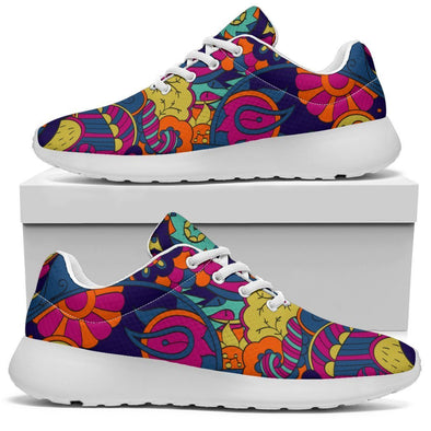 Colorful Boho HIppie Abstract Handcrafted Sport Sneakers