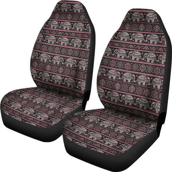 Ethnic Mandala Elephant Car Seat Covers