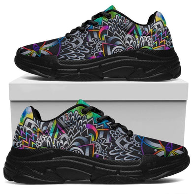 Colorful Mandala Handcrafted Chunky Sneaker