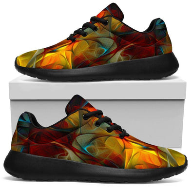 Abstract Glowing Art HandCrafted Sport Sneaker