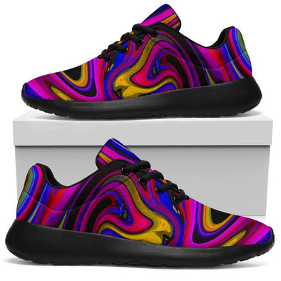 HandCrafted Psychedelic Abstract Art Sport Sneaker