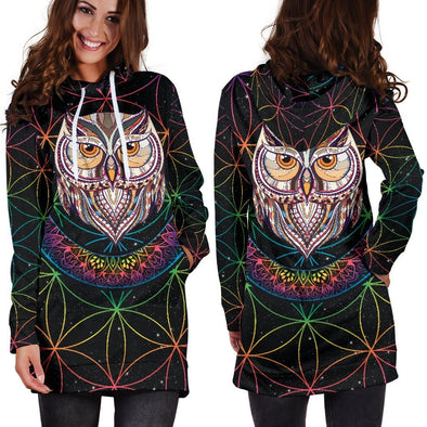 What a Hoot Hooded Dress
