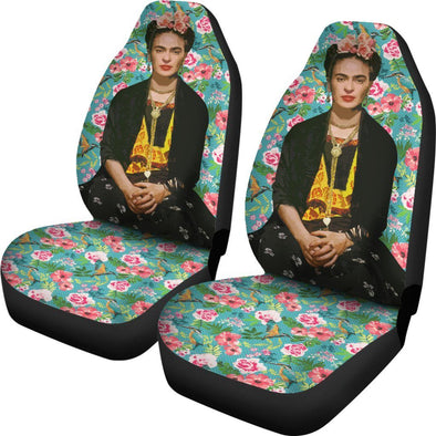 Frida Kahlo Flowers Car Seat Covers