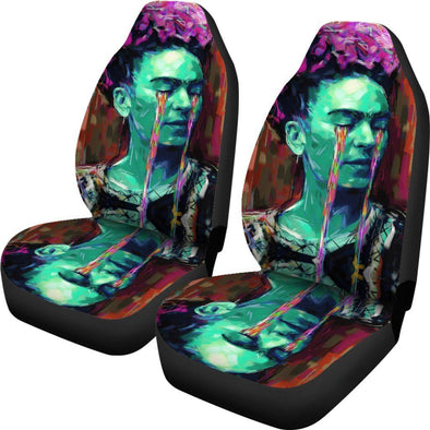 Frida Kahlo Green Car Seat Covers
