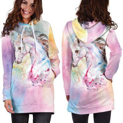 Cotton Candy Unicorn Hooded Dress