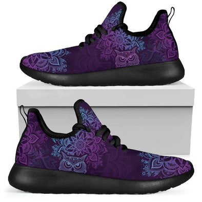Limited Time 60% Purple Mandala Owl Mesh-Knit Handcrafted Sneakers