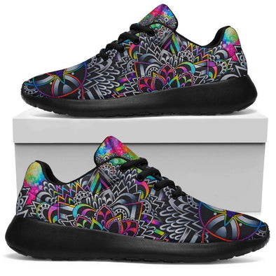 Colorful Psychedelic Mandala Handcrafted Sport Sneakers